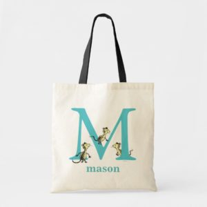 Dr. Seuss's ABC: Letter M - Teal   Add Your Name Tote Bag
