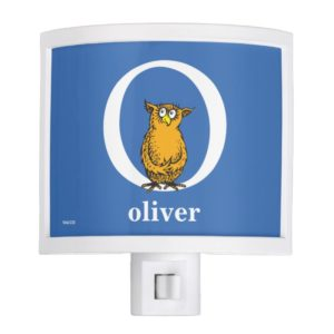 Dr. Seuss's ABC: Letter O - White | Add Your Name Night Light