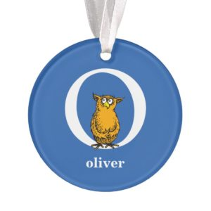Dr. Seuss's ABC: Letter O - White | Add Your Name Ornament