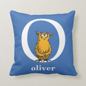 Dr. Seuss's ABC: Letter O - White | Add Your Name Throw Pillow