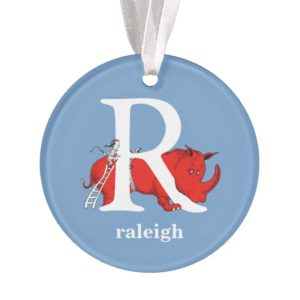Dr. Seuss's ABC: Letter R - White   Add Your Name Ornament