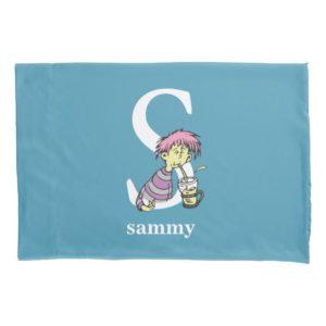 Dr. Seuss's ABC: Letter S - White | Add Your Name Pillowcase