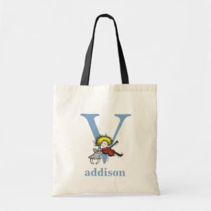 Dr. Seuss's ABC: Letter V - Blue | Add Your Name Tote Bag