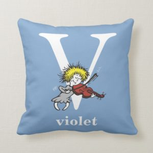 Dr. Seuss's ABC: Letter V - White | Add Your Name Throw Pillow