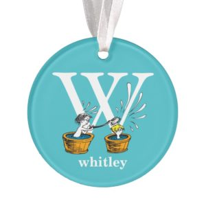Dr. Seuss's ABC: Letter W - White   Add Your Name Ornament