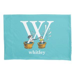Dr. Seuss's ABC: Letter W - White | Add Your Name Pillowcase