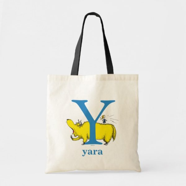 Dr. Seuss's ABC: Letter Y - Blue | Add Your Name Tote Bag