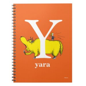 Dr. Seuss's ABC: Letter Y - White   Add Your Name Notebook