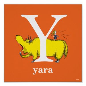 Dr. Seuss's ABC: Letter Y - White   Add Your Name Poster