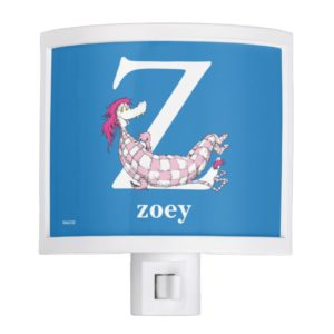 Dr. Seuss's ABC: Letter Z - White | Add Your Name Night Light