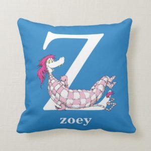 Dr. Seuss's ABC: Letter Z - White | Add Your Name Throw Pillow