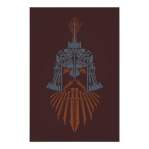 Dwarven Weapons Helmet Icon Poster