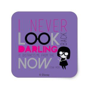 Edna Mode - I Never Look Back Square Sticker