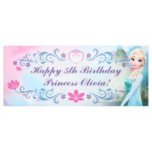 Elsa Floral Birthday Banner