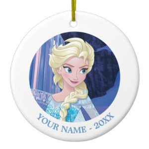 Elsa | Looking Away Add Your Name Ceramic Ornament