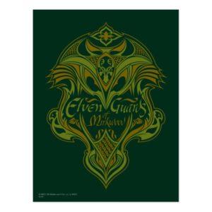 Elven Guards of Mirkwood Shield Icon Postcard