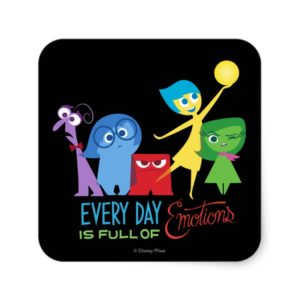 Everyday is Full of Emotions Square Sticker