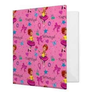 Fancy Nancy | Magnifique Pink Pattern 3 Ring Binder