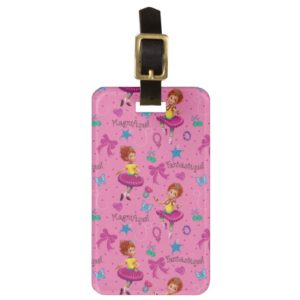 Fancy Nancy   Magnifique Pink Pattern Bag Tag