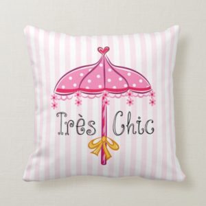 Fancy Nancy | Tres Chic Throw Pillow
