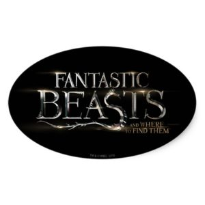 FANTASTIC BEASTS AND WHERE TO FIND THEM™ Logo Oval Sticker