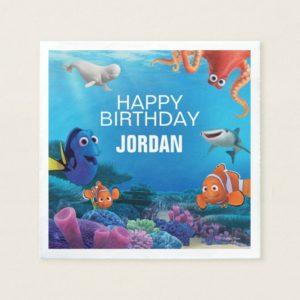 Finding Dory Birthday Paper Napkin