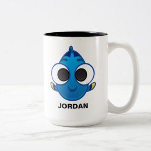 Finding Dory | Dory Emoji Two-Tone Coffee Mug