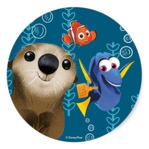 Finding Dory | Nemo, Dory & Otter Classic Round Sticker