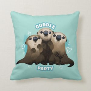 Finding Dory Otters | Cuddle Party Throw Pillow