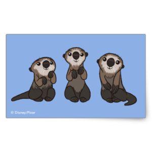Finding Dory Otters Rectangular Sticker