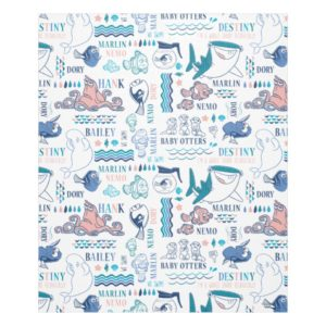 Finding Dory Pastel Pattern Fleece Blanket