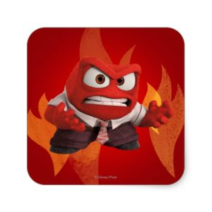 FIRED UP! SQUARE STICKER