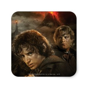 FRODO™ and Samwise Square Sticker
