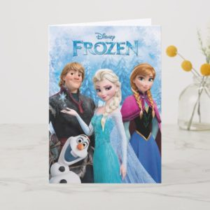 Frozen   Anna, Elsa, Kristoff and Olaf Card