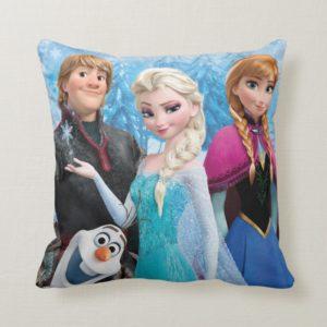 Frozen | Anna, Elsa, Kristoff and Olaf Throw Pillow