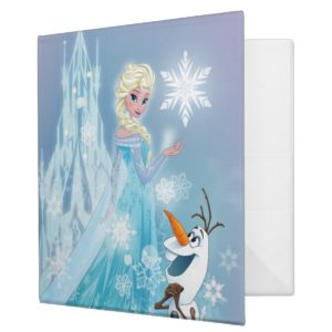 Frozen   Elsa and Olaf - Icy Glow 3 Ring Binder