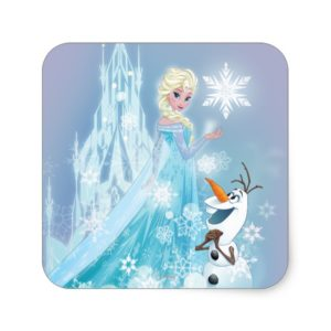 Frozen | Elsa and Olaf - Icy Glow Square Sticker