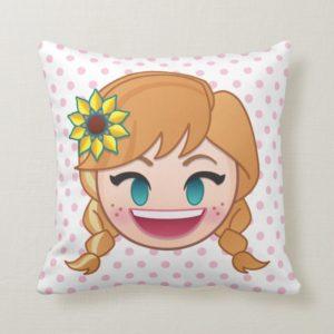 Frozen Emoji | Anna Throw Pillow