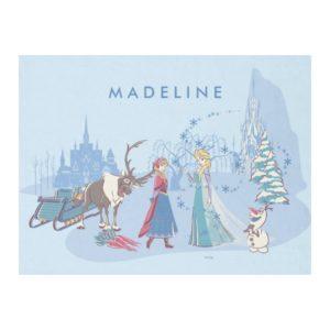 Frozen | Sven, Anna, Elsa & Olaf Blue Pastels Fleece Blanket