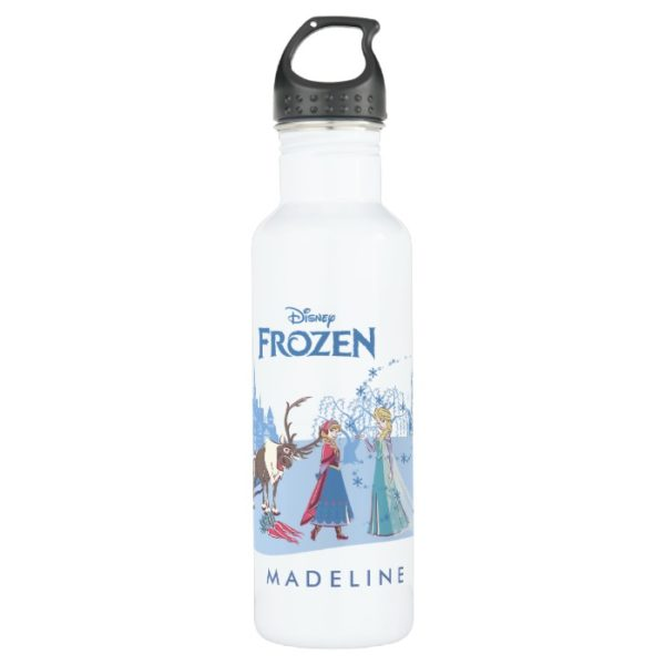 Frozen | Sven, Anna, Elsa & Olaf Blue Pastels Stainless Steel Water Bottle