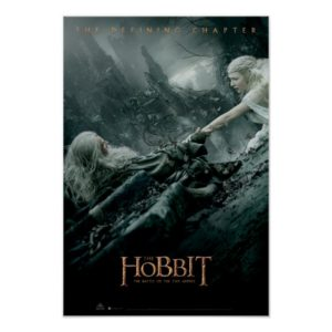 Gandalf and Galadriel Reaching Poster