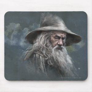 Gandalf Illustration Mouse Pad