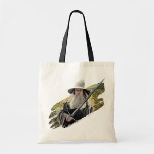 Gandalf With Sword Green Tote Bag