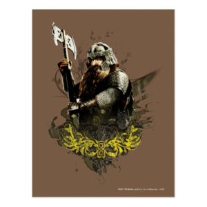 GIMLI™ With Ax Vector Collage Postcard