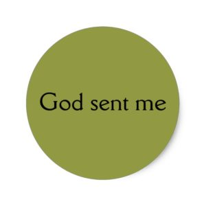 God sent me,quote Allison from Orphan Black Classic Round Sticker