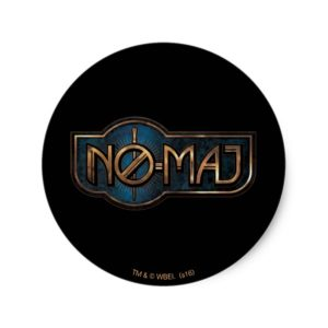 Gold & Marble NO-MAJ™ Badge Classic Round Sticker