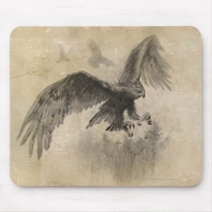 Great Eagles Sketch Mouse Pad