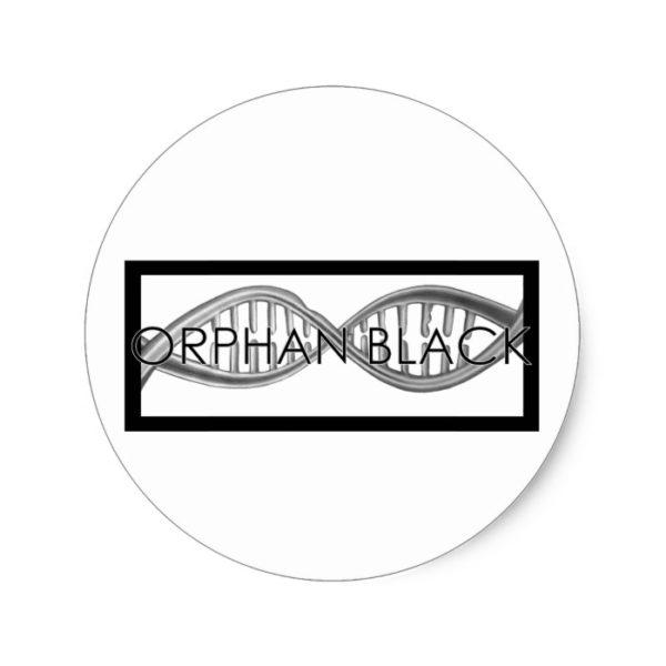 Hand Drawn DNA Classic Round Sticker