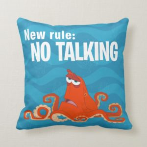 Hank   New Rule...No Talking Throw Pillow