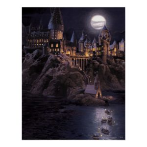 Harry Potter Castle   Great Lake to Hogwarts Poster